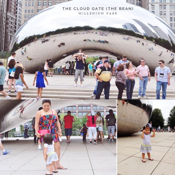 The Cloud Gate Sculpture by sculptors Anish Kapoor